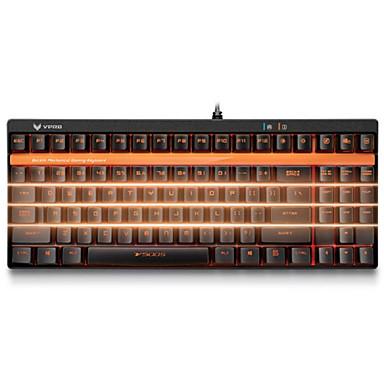 v500s rapoo orginal מפתחות גרסה מלאות תאורה האחורית שחור מתג לשדרג לתכנות 2.0mm מקלדת משחקים מכאני פרו