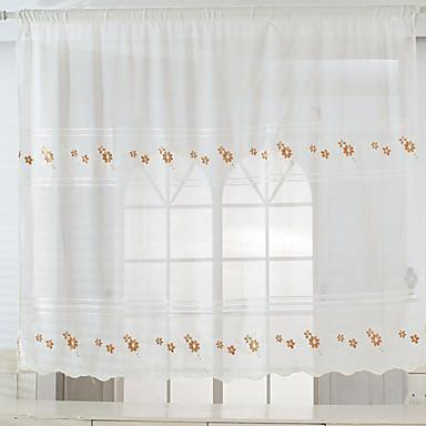 One Panel Window Hoito Kantri Eurooppalainen Living Room Pellava/polyesteriseos materiaali Ovipaneeli Verhot verhot Kodinsisustus For