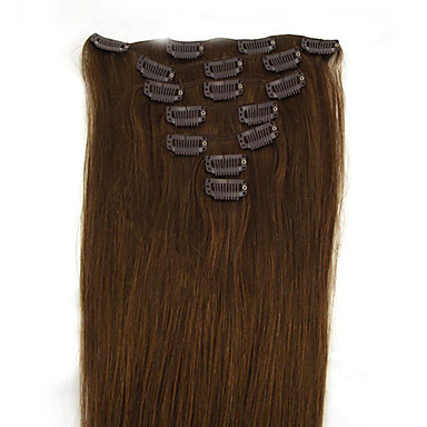 Clip In Human Hair Extensions Human Hair Straight 18 inch 20 inch 22 inch 24 inch 15
