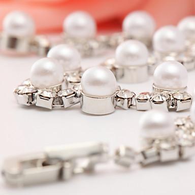 Damen Manschetten-Armbänder Künstliche Perle Aleación Weiß Schmuck Für Alltag Normal 1 Stück