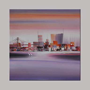 Handgemalte Landschaft Fantasie Abstrakte Landschaft Quadratisch,Modern Ein Panel Leinwand Hang-Ölgemälde For Haus Dekoration