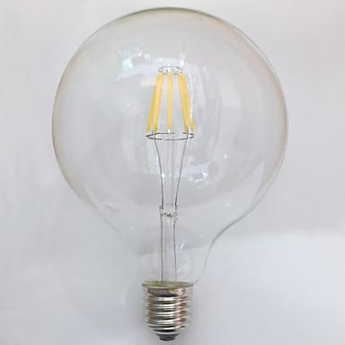 1pç 7W 700 lm E26/E27 Lâmpadas de Filamento de LED G125 8 leds COB Impermeável Decorativa Branco Quente AC 220-240V