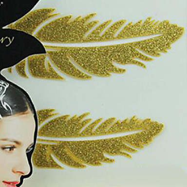 Metallisches Papier Frauen Gold für Haar Tattoo-Aufkleber