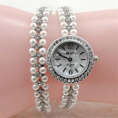 לנשים שעוני אופנה שעון צמיד קווארץ סגסוגת להקה אלגנטי כסף כסף