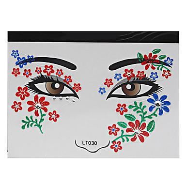 Stencils de Tatuagem Temporária-Feminino Adulto- dePapel-Vermelho-14*14*0.3