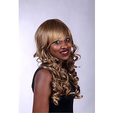 Frauen lange Länge hochwertige synthetische Perücken modische braune Farbe