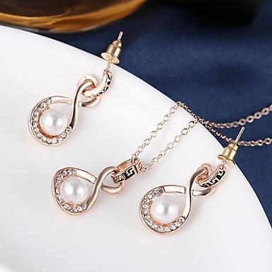 Schmuck Halsketten Ohrringe Halskette / Ohrringe Künstliche Perle Hochzeit Party Alltag 1 Set Damen Goldfarben Hochzeitsgeschenke