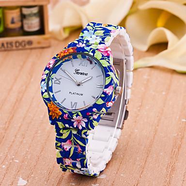 Mulheres Relógio de Moda Venda imperdível Plastic Banda Flor Azul / Um ano / Tianqiu 377