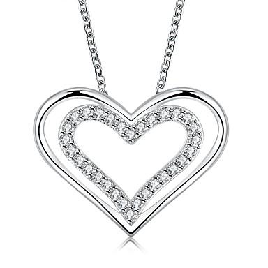 Modische Halsketten Halsketten Anhängerketten Statement Ketten Schmuck Hochzeit Party Alltag Normal Sport Herzform Herz Sterling Silber