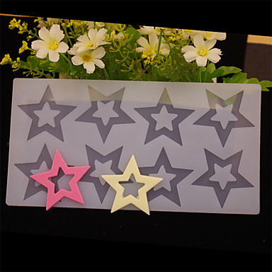 Backform Stern Für Süßigkeit Chocolate Obstkuchen Kuchen Silikon Umweltfreundlich Valentinstag Gute Qualität