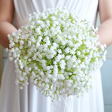 Hochzeitsblumen Sträuße Hochzeit Baumwolle Satin Papier 23 cm ca.