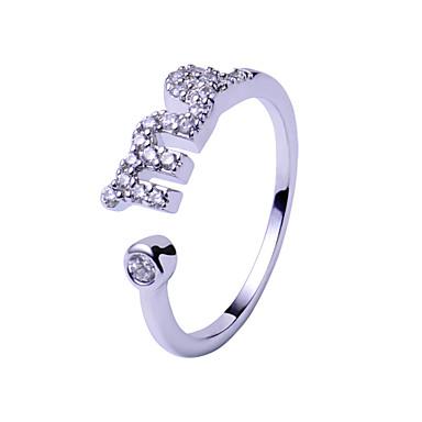 Ringe,Silber Einstellbar Hochzeit / Party / Alltag / Normal Schmuck Sterling Silber Eheringe 1 Stück,Verstellbar Silber