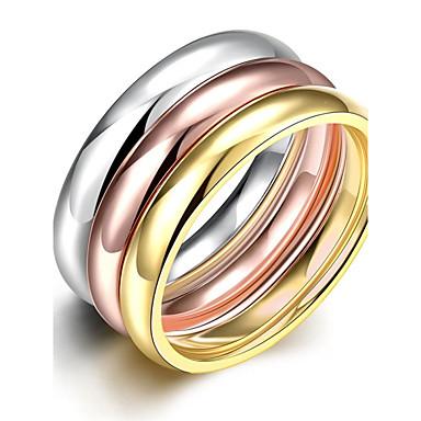 Dame Band Ring / Statement Ring / Ring - Sølvbelagt, Guldbelagt Yndig, Tassel, Bohemisk 6 / 7 / 8 Udvalgte Farver Til Bryllup / Fest / Daglig / 3stk