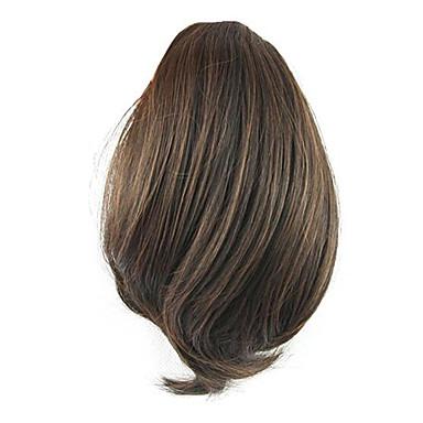 שרוך קוקו שיער סינטטי חתיכת שיער הַאֲרָכַת שֵׂעָר גלי טבעי