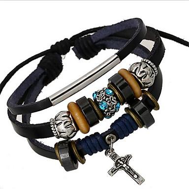 Bracelet Bracelets de rive / Bracelets en cuir Alliage / Cuir Mariage / Soirée / Quotidien / Décontracté / Sports Bijoux Cadeau Noir,1pc