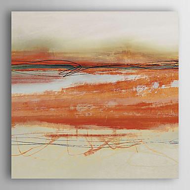 יד מופשט ציור שמן צבוע orangecoloured מופשט עם arts® קיר מסגרת 7 נמתח