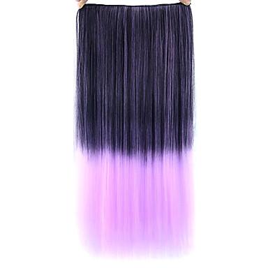 droite rose coloré les cheveux humains perruques 1t2403a