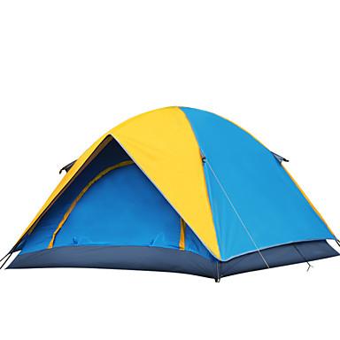 YUNYI® 3-4 personnes Tente Tente de camping Une pièce Tentes de Randonnée Garder au chaud Bonne ventilation Etanche Pare-vent Résistant à