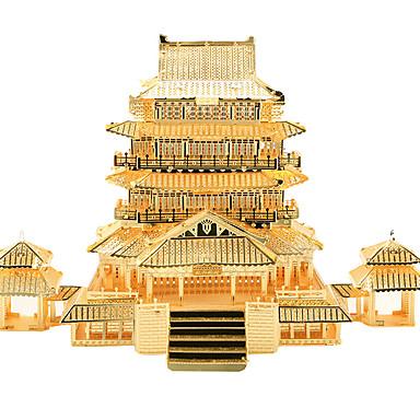 Quebra-Cabeças 3D Quebra-Cabeça Quebra-Cabeças de Metal Brinquedos de Montar Arquitetura Chinesa Clássico Metalic Aço Inoxidável Para