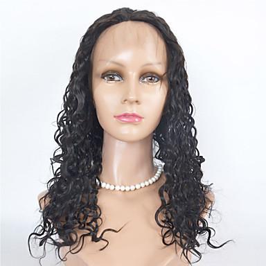 인모 전면 레이스 가발 Kinky Curly 130 % 밀도 100% 핸드 타이드 흑인 가발 자연 헤어 라인 짧음 보통 긴 여성용 인모 레이스 가발