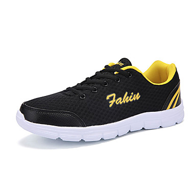Sneakers-Tyl-Komfort-Unisex-Sort Blå Rosa Grå Mandel-Fritid-Flad hæl
