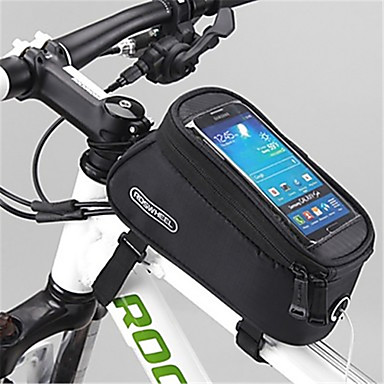 ROSWHEEL Mobiltelefonetui / Taske til stangen på cyklen 4.8 inch Touch Screen Cykling for Samsung Galaxy S6 / iPhone 4/4S / Samsung Galaxy S4 Gul / Vandtæt Lynlås