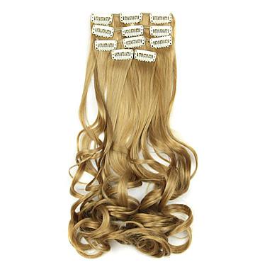hossza 60cm arany magas hőmérsékletű vezetékes paróka póthaj szintetikus haj