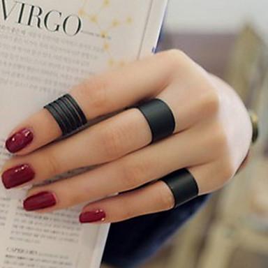 ราคาถูก แหวน-สำหรับผู้หญิง วงแหวน / แหวนนิ้วหัวแม่มือ / Pinky Ring 3 ชิ้น สีดำ Silver รูปร่างวงกลม สุภาพสตรี / ส่วนบุคคล / ไม่ปกติ งานแต่งงาน / ปาร์ตี้ / ของขวัญ เครื่องประดับเครื่องแต่งกาย