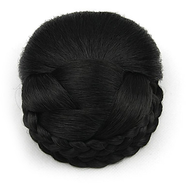 verworrene lockige schwarze europa Braut Perücken menschliches Haar capless Chignons sp-159 2