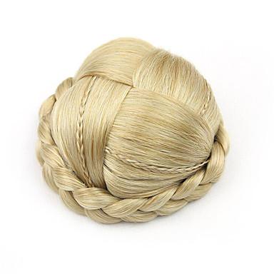 verworrene lockige Gold Europa klein menschliches Haar capless Perücken Chignons 1003
