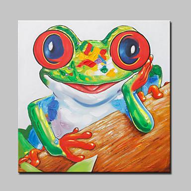 Kézzel festett Állat Modern,Egy elem Hang festett olajfestmény