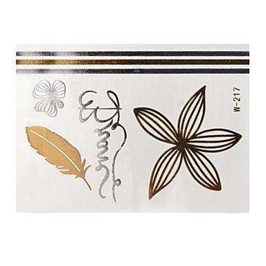 Airbrush-Tattoo Schablonen- fürDamen / Erwachsener-Gold-Papier-1Stück -8*11*0.3