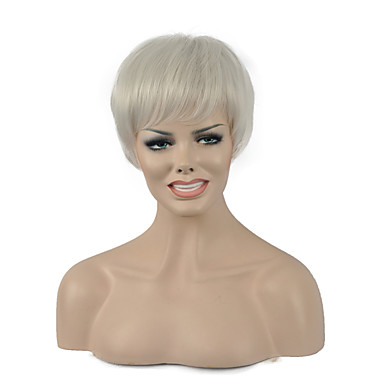 Damen Synthetische Perücken Kappenlos Glatt Blondine Kostüm Perücken