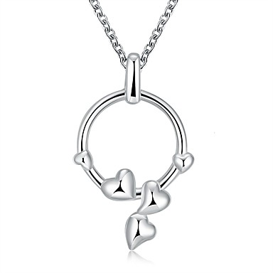 Damen Gestalten Klassisch Liebe Modisch Halsketten Anhängerketten Statement Ketten Sterling Silber Silber Halsketten Anhängerketten