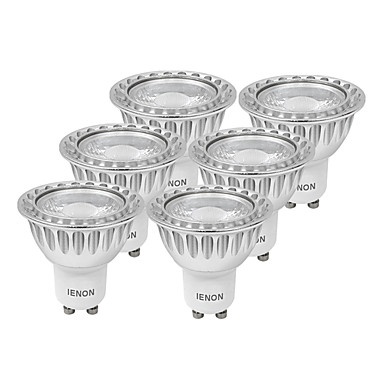 GU10 Spot LED MR16 1 COB 400-450 lm Blanc Chaud Blanc Froid Décorative AC 100-240 V 6 pièces