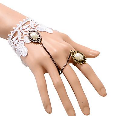 Damen Ring-Armbänder Übergang Modisch Böhmen-Art Spitze Weiß Schmuck Für Party Alltag Normal 1 Stück