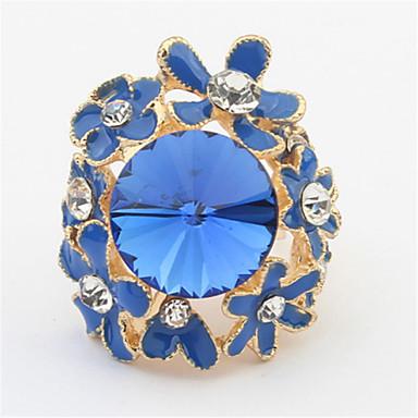 sjarm små blomster diamant edelstener ringer klassisk feminin stil