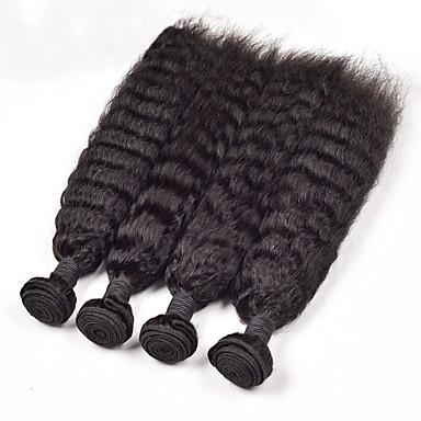 Malaysisk hår Rett 6 måneder 4 deler hår vever