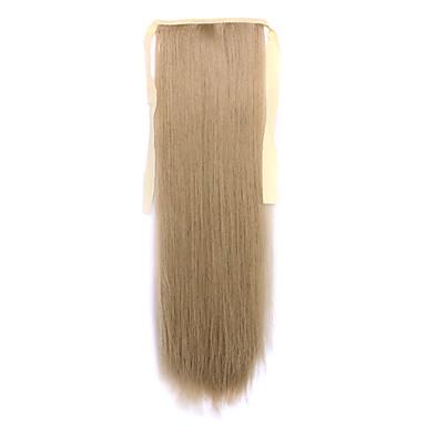 flaxen comprimento 60 centímetros tipo de ligação sintética reta longa peruca de cabelo de rabo de cavalo (cor 16)