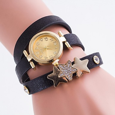 Damen Quartz Armband-Uhr Imitation Diamant Armbanduhren für den Alltag PU Band Charme Freizeit Modisch Mehrfarbig