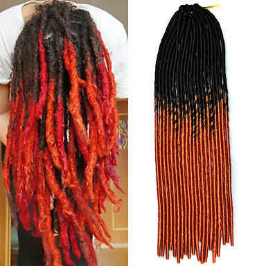 20inch Kanekalon senegalesiske fletter hekle myk frykt låse syntetisk pyntebånd håret