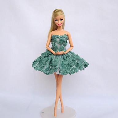 תחפושות בנושאי טלוויזיה וסרטים תחפושות ל ברבי דול סאטן נמתח בַּד שמלה ל הילדה של בובת צעצוע
