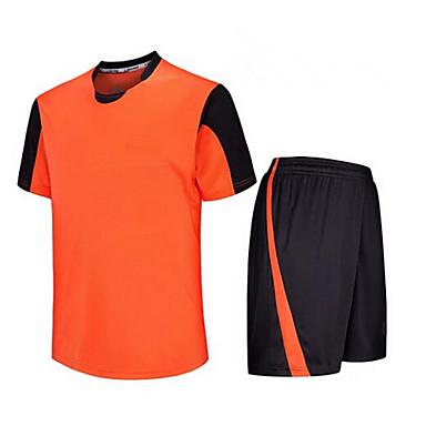 לגברים כדורגל מכנסי שורט + חולצה מדים בסטים נושם ייבוש מהיר אביב קיץ סתיו חורף קלאסי טרילן כושר גופני ספורט פנאי כדורגל ריצה