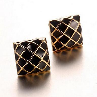 Argola Prendedor de Gravada Clipe de gravata Liga Trabalho Casual Botões de Punho Homens Dourado Prateado