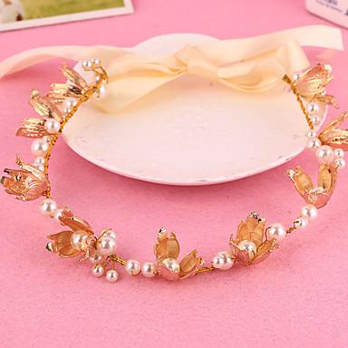 Damen Blumenmädchen Legierung Künstliche Perle Kopfschmuck-Hochzeit Besondere Anlässe Freizeit im Freien Stirnbänder 1 Stück