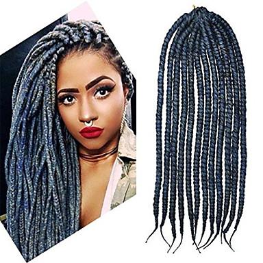 Bracelet en crochet 12-24 pouces havane mambo afro torsion extension cheveux gris foncé