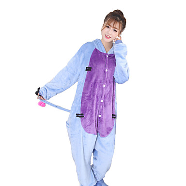 Kigurumi Pajamas Donkey Onesie Pajamas Costume Coral fleece Blue Cosplay For Adults' Animal Sleepwear Cartoon Halloween Festival / Holiday