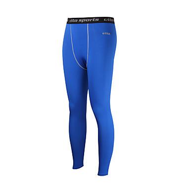 Homens Leggings de Corrida Leggings de Ginástica Compressão Meia-calça Calças Exercício e Atividade Física Corrida Apertado Azul M L XL