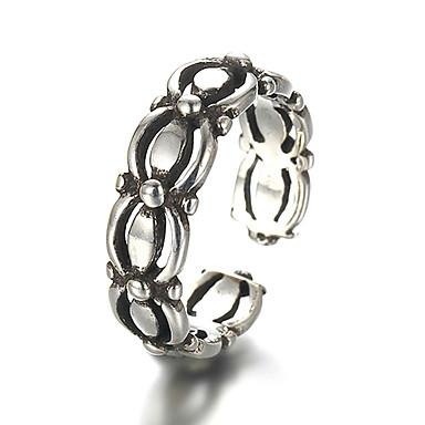Ringer Vintage / Punkestil Daglig / Avslappet Smykker Sølv Båndringe 1 stk,Justerbar Sølv