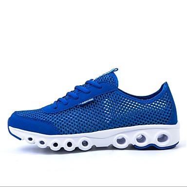 Les chaussures de course des femmes tulle plat confort talon chaussures de mode de sport bleu / rose / fuchsia